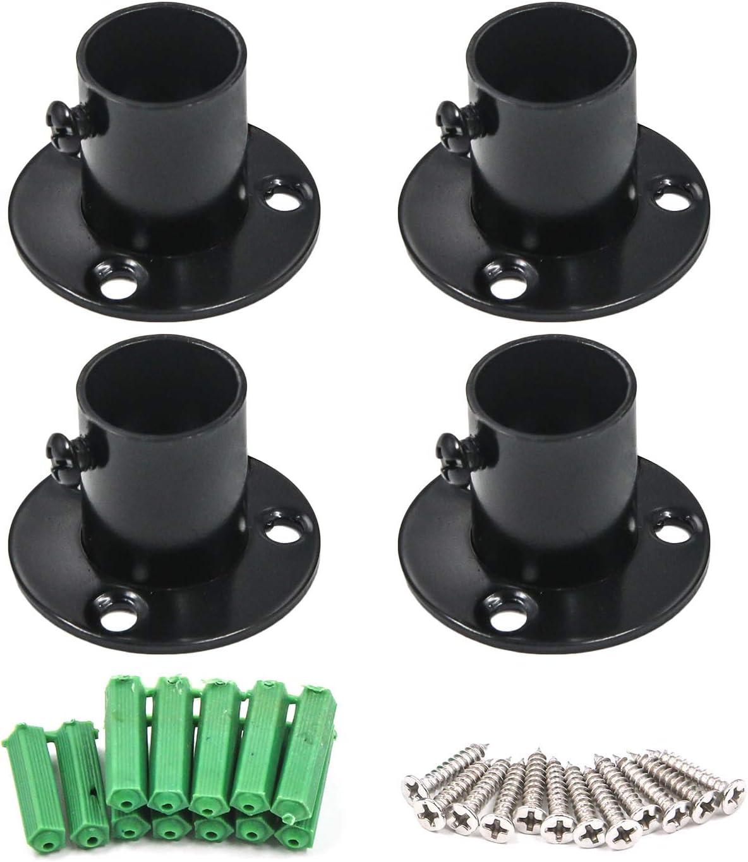 4d7a0494a0ec2e6b4ac4464fd5c4ef5a Aexit 38mm Pipe Flange Socket Rail Rod Support Holder Bracket 2PCS for Closet Wardrobe