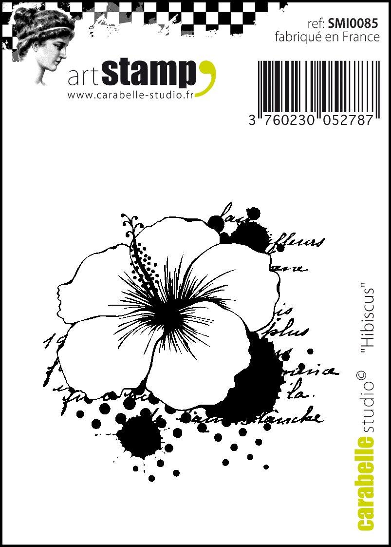 Carabelle Studio Hibiscus Cling Sello Mini, Caucho, 5.0x6.0x0.5 cm: Amazon.es: Hogar