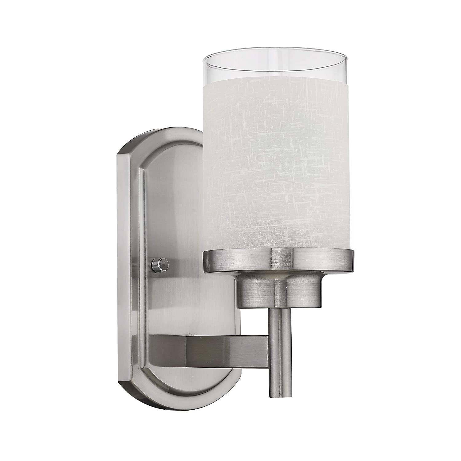 Jazava modern bath vanity light fixture industrial bathroom wall sconces for farmhouse halls white linen frosted glass shades in brushed nickel