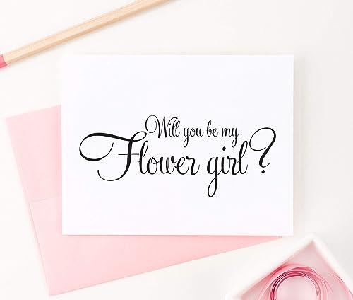 Letterpress Card Flower Girl Card Flower Girl Proposal Will You Be My Flower Girl