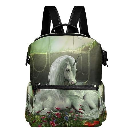 COOSUN Unicornio yegua y potro escuela de la mochila del morral del recorrido Multi