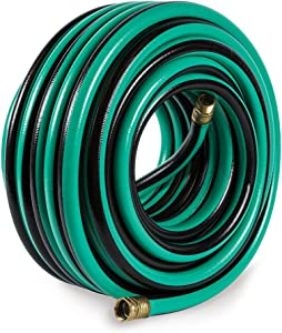 Gilmour 28 Series PRO Golf Course Hose 3/4 Inch x 100 Feet 28-34100 Green & Black Stripe (Discontinued by Manufacturer)