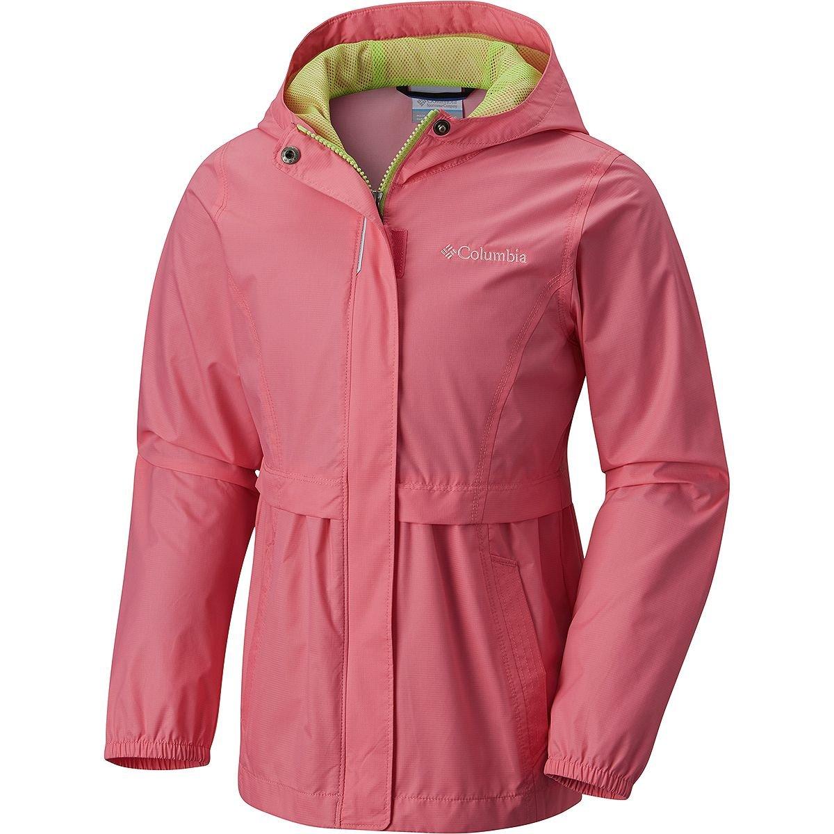 Columbia Big Girls' Pardon My Trench Rain Jacket, Lollipop, L