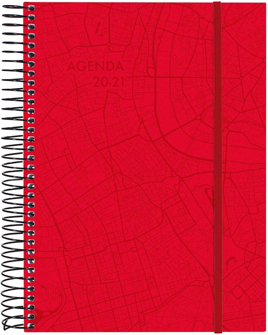 Finocam 155x212 2 giorni Pagina a spirale Travel Rosso Catalano Agenda 18 mesi 2020-2021 E10