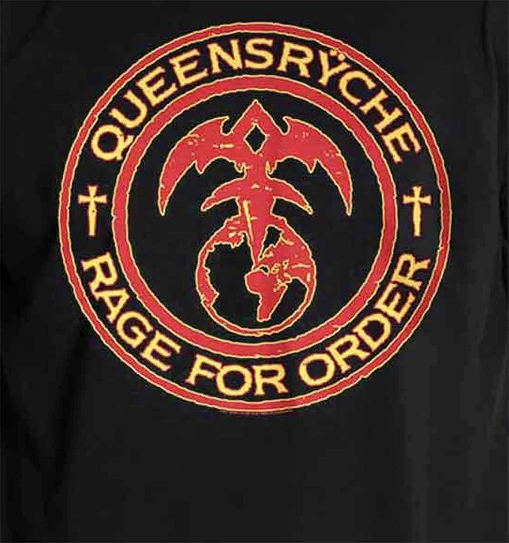 G/én/érique Queensryche T Shirt Rage of Order Band Logo Nouveau Officiel Homme