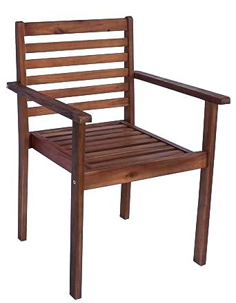 Tremendous Amazon Com Zen Garden Eucalyptus Stackable Patio Outdoor Creativecarmelina Interior Chair Design Creativecarmelinacom