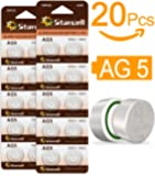 Act 20 Pilas sin Mercurio, alcalinas, de botón AG5/LR48/LR754/393 (1,5 V, 20 Unidades)