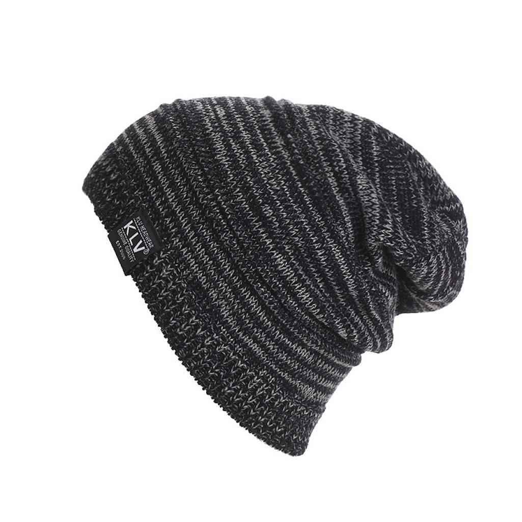 Knit Baggy Hat, ChainSee Woman Man Girls Boys Fashion Unisex Winter Slouchy Beanie Ski Wool Warm Cap (Gray)
