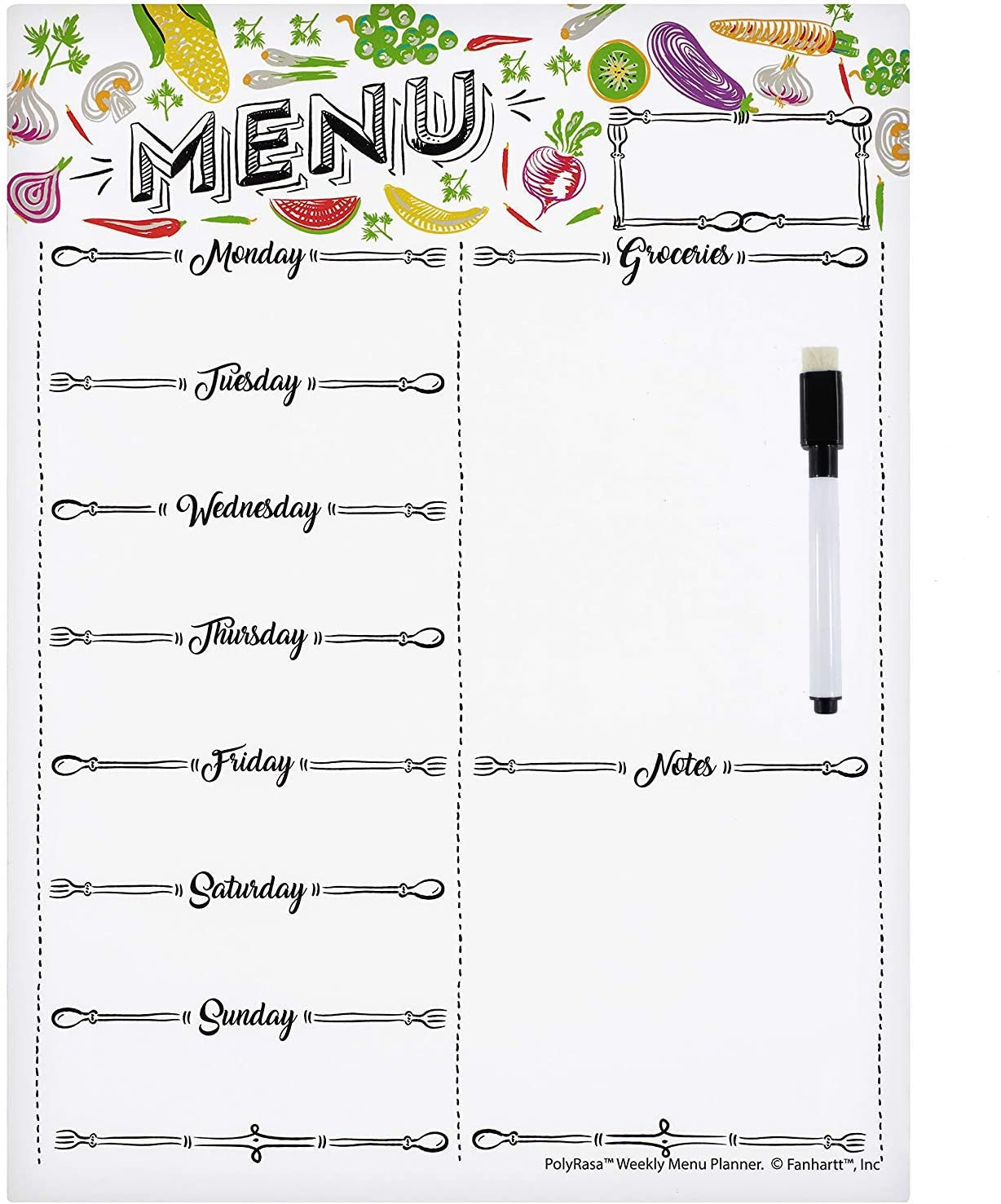 Pre-order Magnetic Weekly Fridge Planner Shopping List Memo or Notice Board Turquoise /& Pink Family Organiser Whiteboard Meal Planner 8 Marker Pens /& Gift Box Included Use it as a Calendar