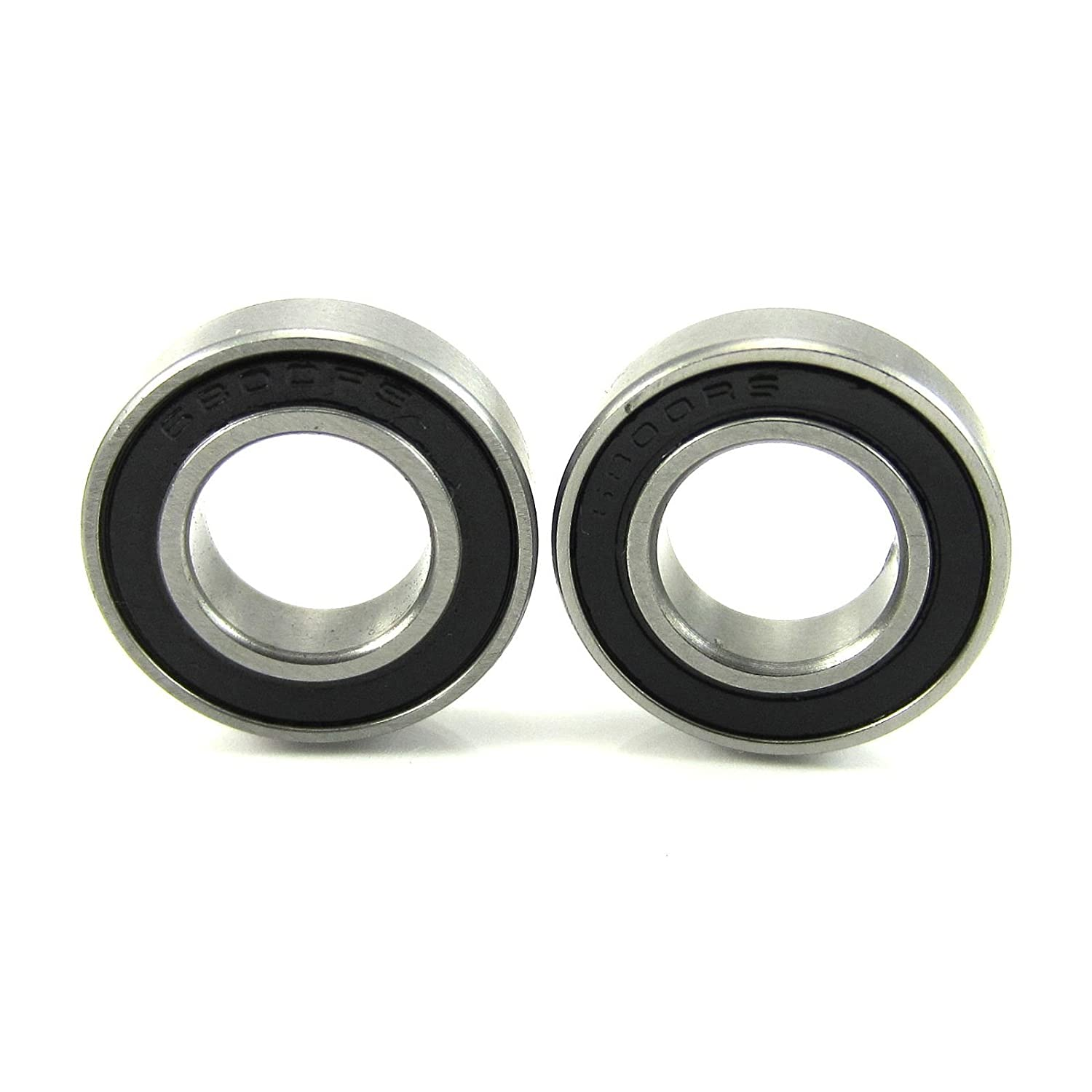 (2) 10x19x5mm Precision Ball Bearings ABEC 3 Rubber Seals TRB RC