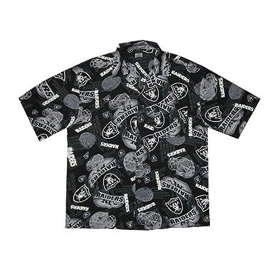 LIMITED EDITION  Mens NFL Oakland Raiders Hawaiian Short Sleeve Summer Shirt  (Size  2XL ffc23e60a