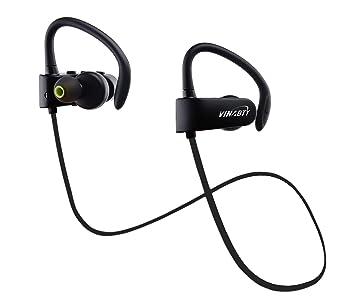 50257f0c08a Bluetooth auriculares, Vinabty V4.1 audífonos auriculares para  correr, caminar,