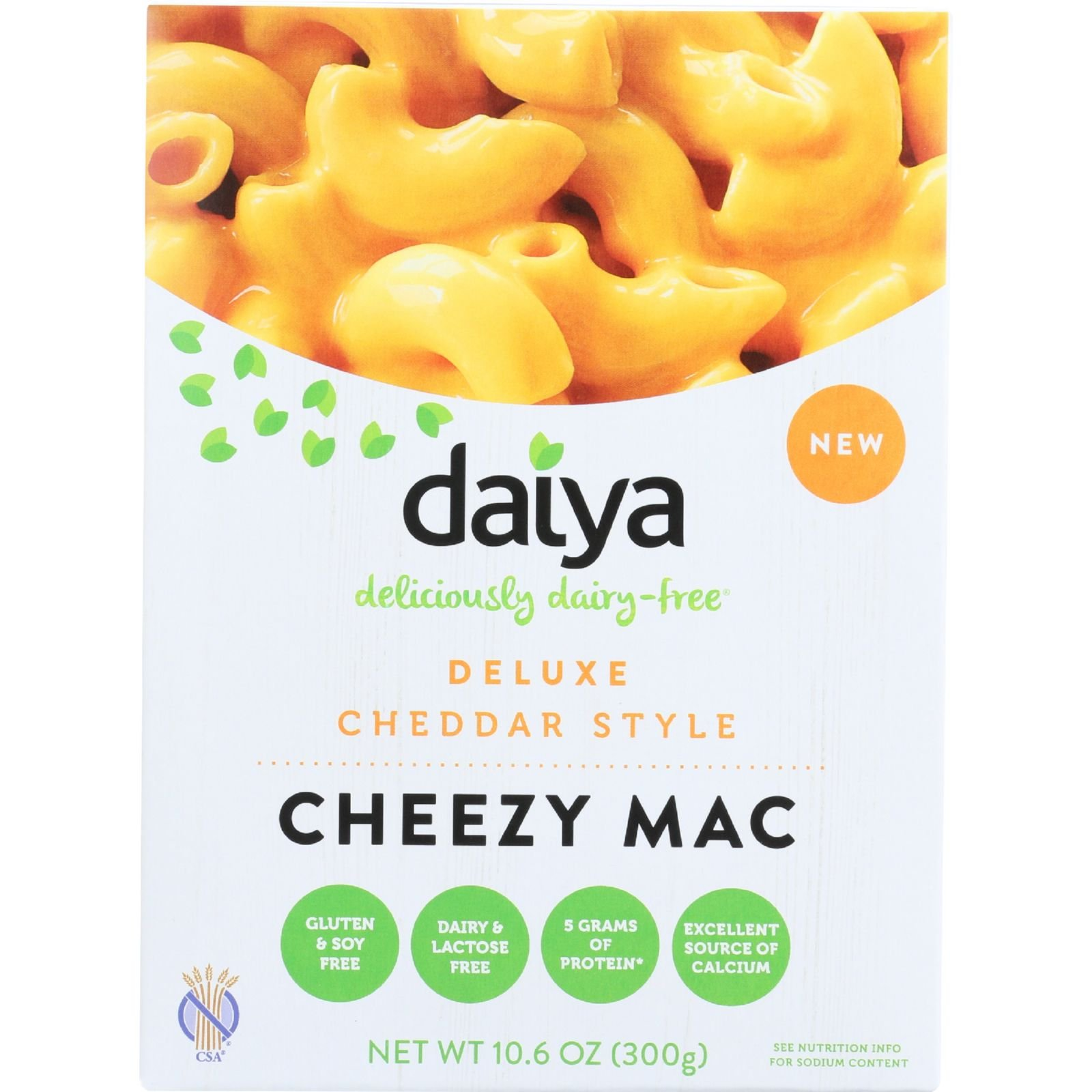 Daiya Foods Inc Cheezy Mac - Deluxe - Cheddar Style - 10.6 oz - case of 8 - Gluten Free - Dairy Free - Wheat Free-Vegan by Daiya