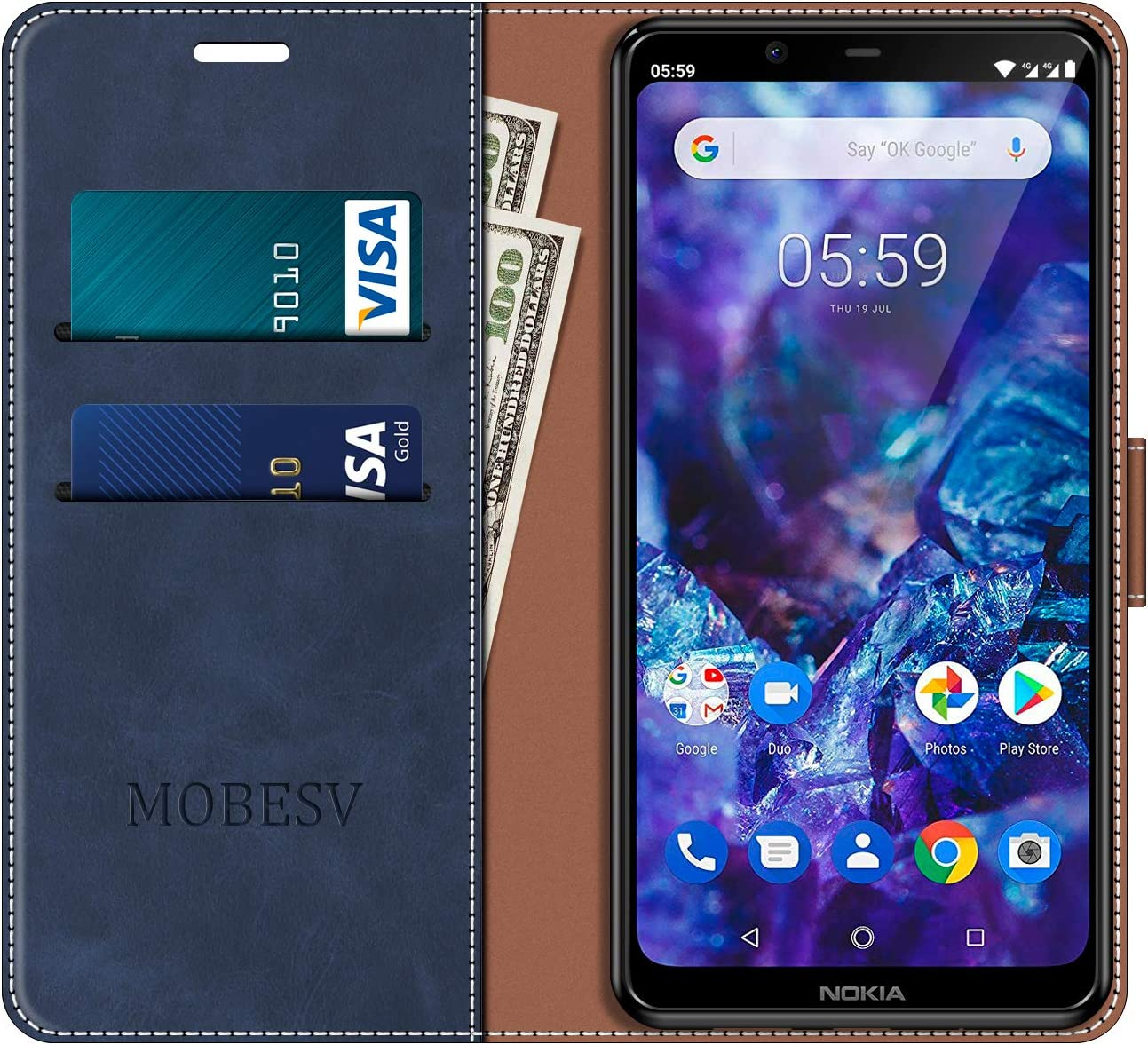 MOBESV Funda para Nokia 5.1 Plus, Funda Libro Nokia 5.1 Plus ...
