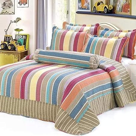 CDSITHH Juego de sábanas 100% algodón Acolchado Estampado campestre de 4 Juegos de Juegos de Cama @ Blue_180Cm_Bed: Amazon.es: Hogar