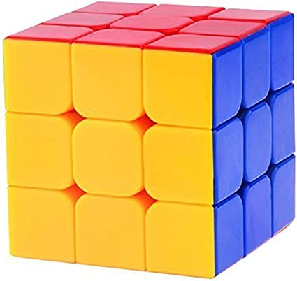 Zamp E Commerce Stickerless Speed Cube Cube 3X3X3 - Multi Color