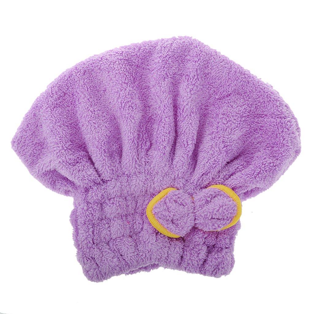 Capelli Asciutti Cappello in microfibra capelli Turbante rapidamente doccia bagno Tappi Avvolto asciugamano tappo cuffia da doccia Generic