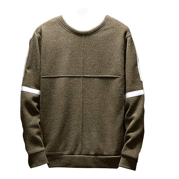 YanHoo Suéter de los Hombres Suéter de Manga Larga con ...