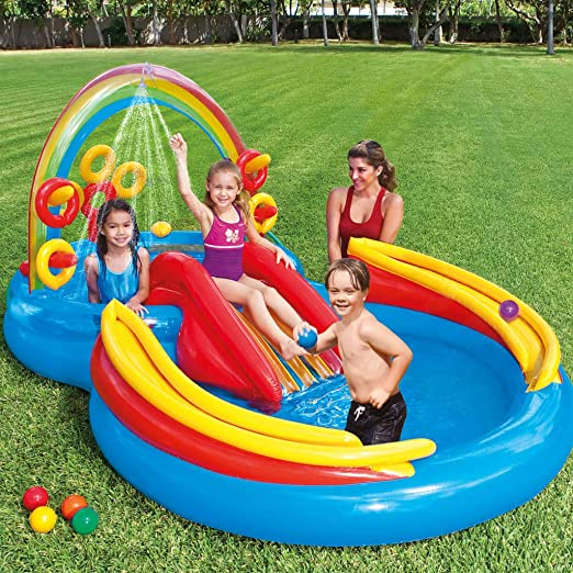 FESTNIGHT Piscina Inflable Centro de Juegos Hinchable ...