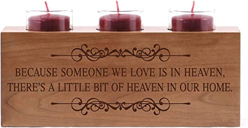 LifeSong Milestones Personalized Engraved Memorial Votive Candle Holder 10x4x4 Those Who We Love Loss of Parent