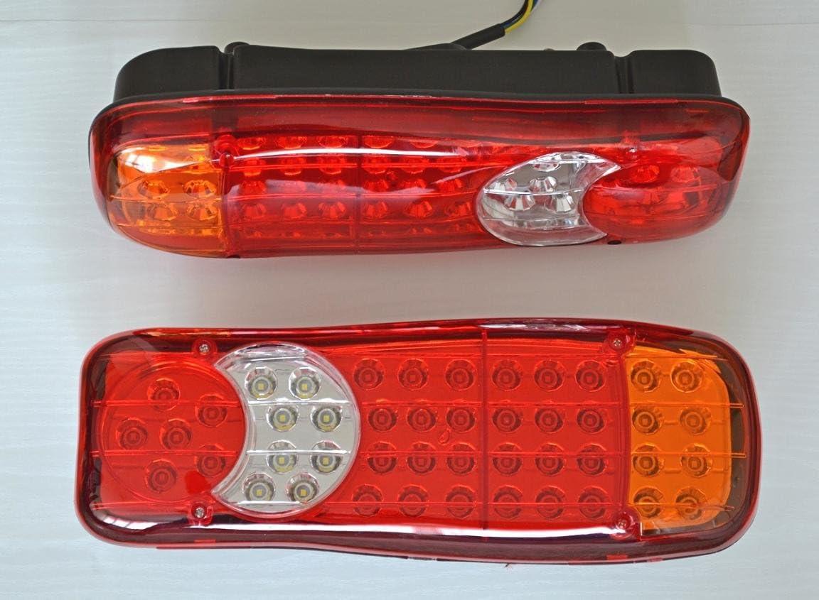 2/x 46/LEDs Stop Feux arri/ère 12/V pour camion Camper socle basculant pour ch/âssis de remorque Camion caravane LKW 350/mm
