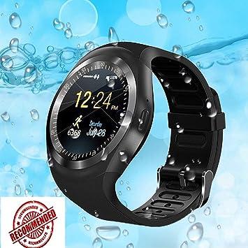 Montre Connectée Pcjob Smart Watch Sn05 Ronde Smartwatch podomètre Tracker de Fitness avec Emplacement pour Carte