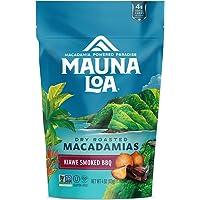 Mauna Loa Premium Hawaiian Roasted Macadamia Nuts, Kiawe Smoked BBQ Flavor, 4 Oz Bag (Pack of 1)