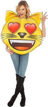 Generique - Disfraz Emoji Gato Ojos de Corazon Adulto Única ...