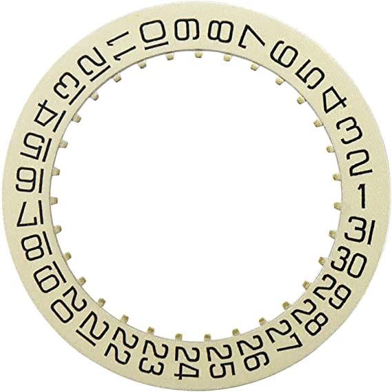 3 Date Disc For Tudor Movement Eta 2834-2 2836-2 2846 2878 Black 3H Window