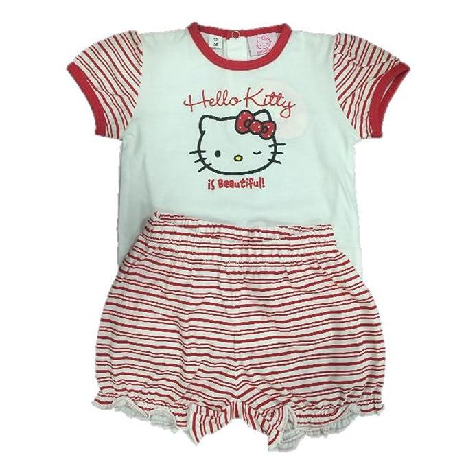 Sanrio - Pijamas enteros - para bebé niña rojo 12 meses
