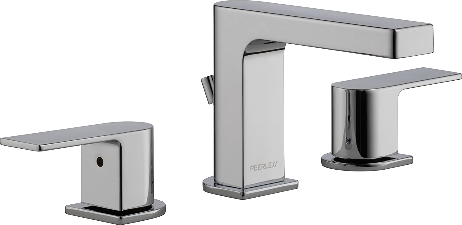 Peerless Xander 2-Handle Widespread Bathroom Faucet with Pop-Up Drain Assembly, Chrome P3519LF