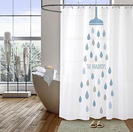 Yeasing tenda da doccia impermeabile bagno tende da doccia doccia ...