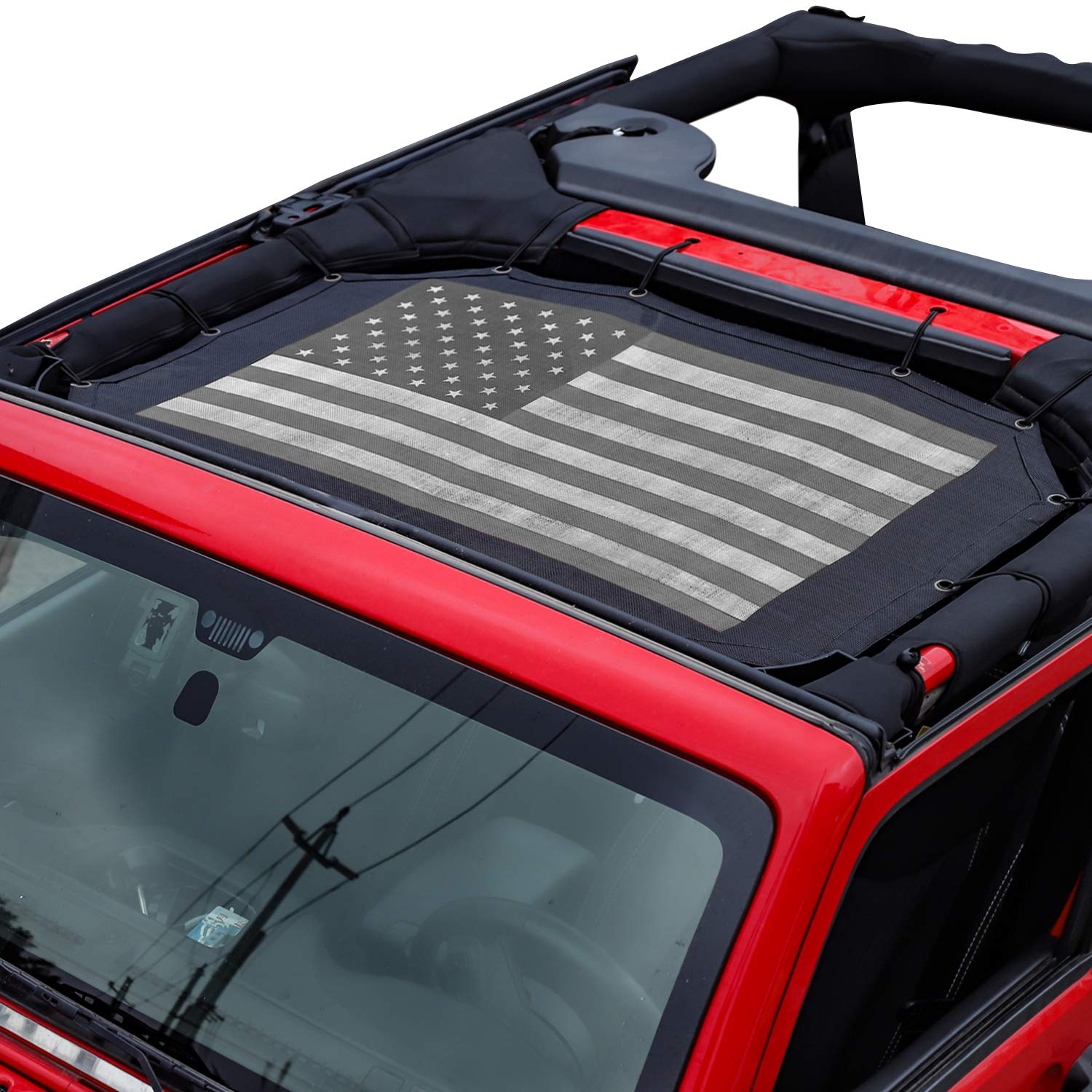 JeCar 2018 Jeep Wrangler Lights Cover Tail Light Guard for 2018 jeep Rubicon Sahara Sport JL(Pawprint style 1 Pair)