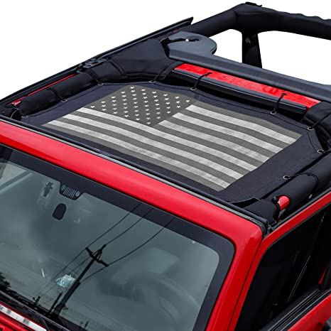 Pair KEENAXISIron Man Black Rear Tail Light Guard Cover Protector for 2007-2018 JK Unlimited Accessories