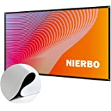 プロジェクター スクリーン 新しいアップグレード版 シワなし (取り付けのツール付き) NIERBO 60インチ サイズ 16:9 ローリング式 持ち運びホームシアター スクリーン 軽便 投影用 会議 教室 屋外屋内用 映画 スクリーン (60インチ)