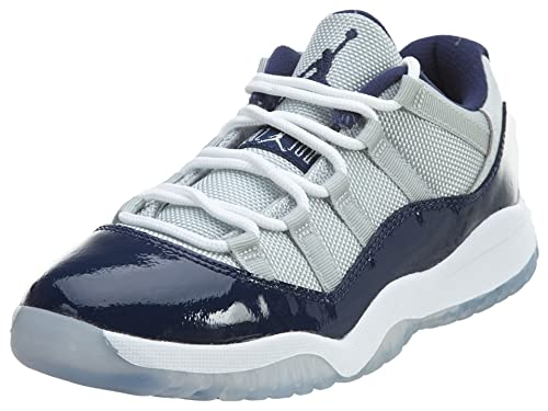 hot sale online 8350d da4eb Nike 505835-007 AIR Jordan 11 Retro Low (PS) PRE-School Shoes Grey Mist  White Midnight Navy  Buy Online at Low Prices in India - Amazon.in