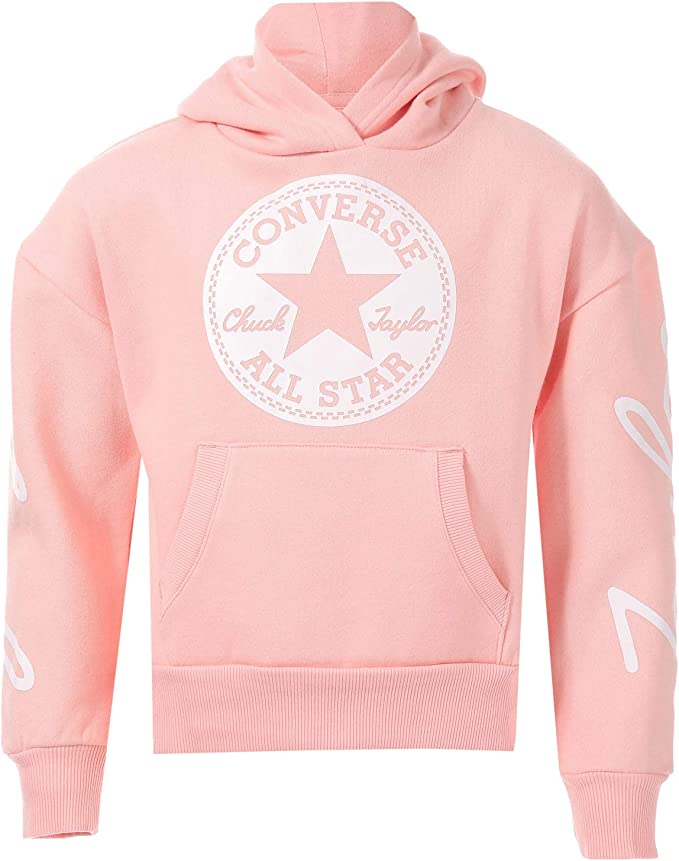 CONVERSE Sweat à capuche Rose Enfant Fille Rose Achat