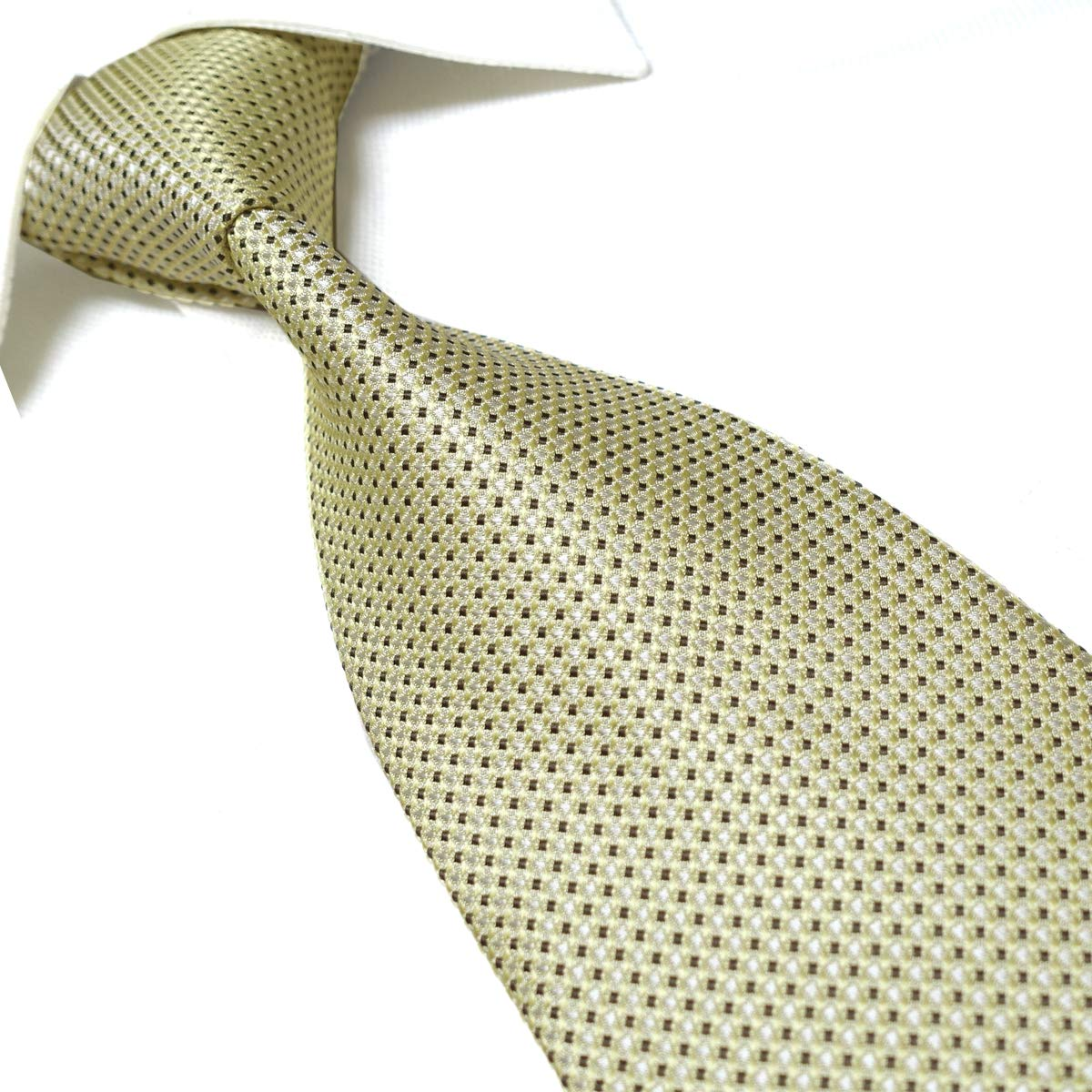 Towergem Extra Larga Corbata de Poli/éster XLDorado Paisley Hombre Corbata 63