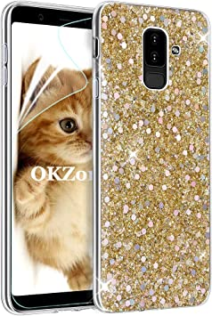 OKZone Funda Samsung Galaxy A6 Plus 2018 Carcasa Purpurina ...