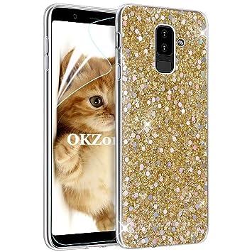 OKZone Funda Samsung Galaxy A6 Plus 2018 Carcasa Purpurina, Cárcasa Lujosa Brilla Glitter Brillante TPU Silicona Teléfono Smartphone Funda Móvil Case ...