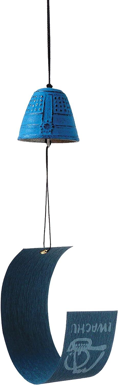 Iwachu Campana de Feng Shui Furin Azul 4,5 cm - Hierro Colado de Japón