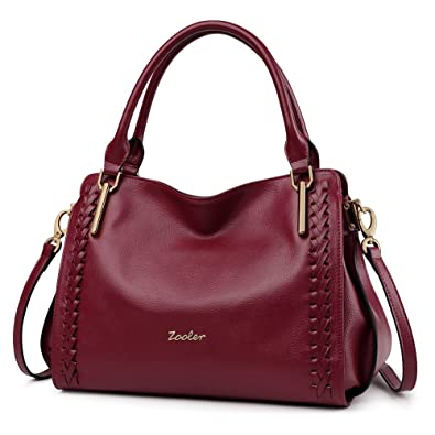 ZOOLER Leather Purses and Handbags for Women Shoulder Bags Satchel Ladys Tote