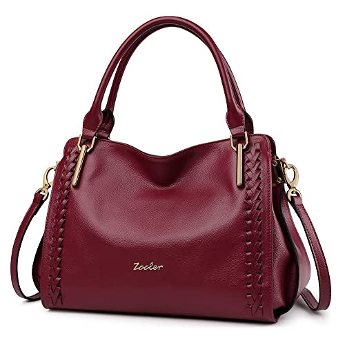 Amazon.com: ZOOLER Leather Purses and Handbags for Women Shoulder Bags Satchel Ladys Tote …: Shoes