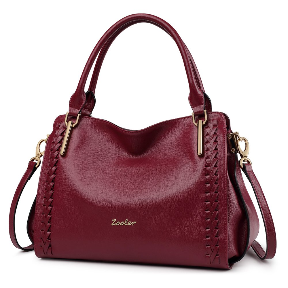 ZOOLER Leather Purses and Handbags for Women Shoulder Bags Large Satchel Lady's Tote