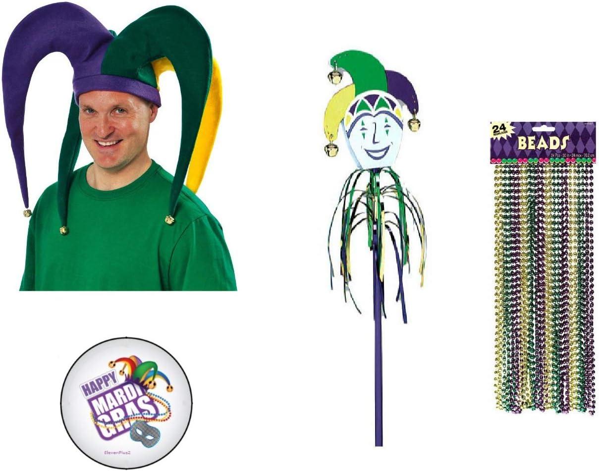 Disfraz de bufón de Mardi Gras: sombrero de bufón gigante con ...
