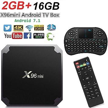 Smart TV Box Android X96 Mini 4K y Teclado Rii Mini i8 (2GB + 16GB + Rii8): Amazon.es: Electrónica