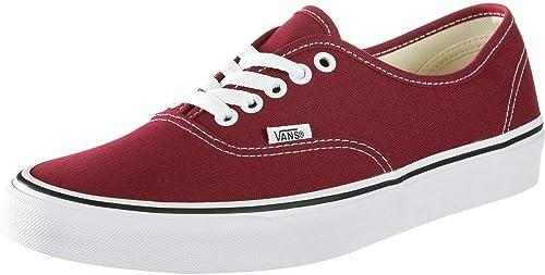 chaussures vans toile bordeaux