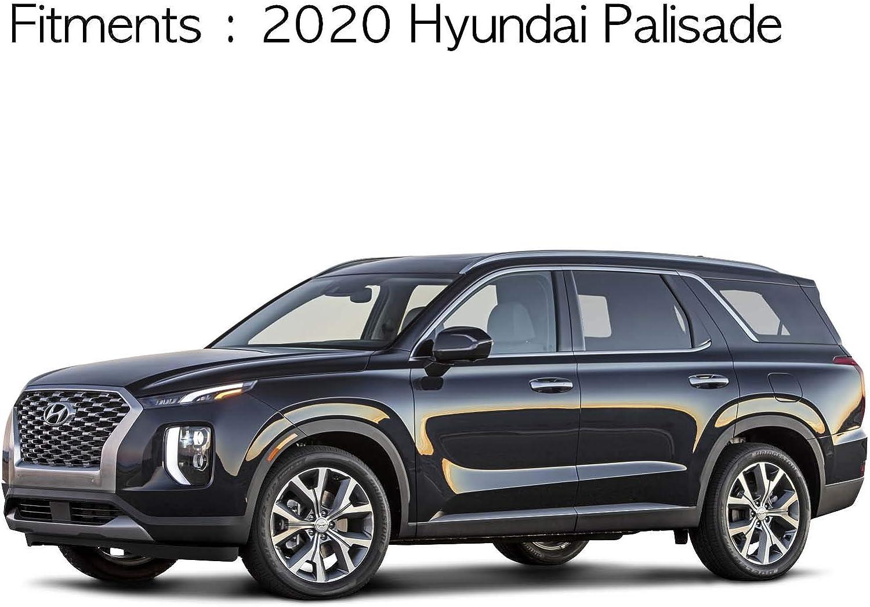 Kyoungdong Smoked Black Side Window Wind Deflectors Visor Rain Wind Guards 4p for 2020 Hyundai Palisade