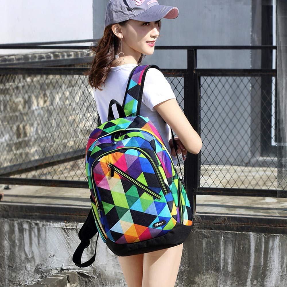Seven colors CYCY (LIANGKA backpack female new junior high school student bag male fashion trend backpack travel bag seven color