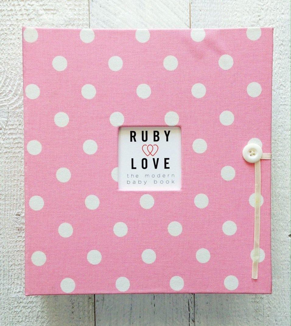 Polka Dot School Years Memory Album - Pre-K through 12th Grade (Pink)